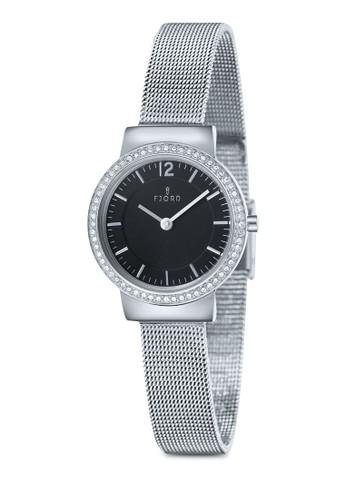 ELINA 金屬網眼水鑽圓錶, 錶類esprit taiwan, 飾品配件