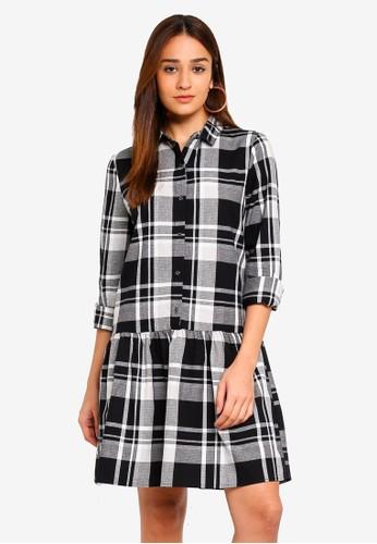 Cotton On black Woven Tammy Long Sleeve Shirt Dress EA4BCAA0F42D94GS_1
