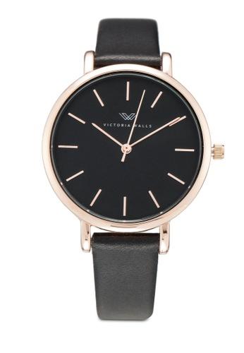 Victoria Walls Watches black Designer Watch-Elegant Leather Strap 969F1AC8624CCCGS_1