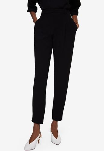 Mango black Pleated Jogging Trousers 14C49AA13E3BAFGS_1