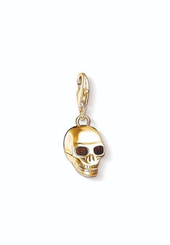 "THOMAS SABO gold Charm pendant ""skull gold"" 0465FAC1191EAFGS_1"