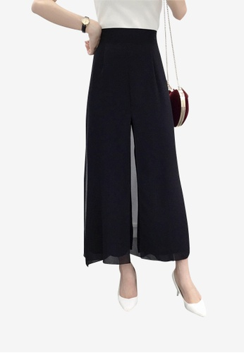 Lara 黑色 女裝純色長褲 7C777AA6670C37GS_1