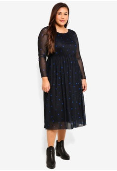 b88cc6aecce Junarose navy Plus Size Nadia Below Knee Dress C6B68AA4C02BA7GS 1