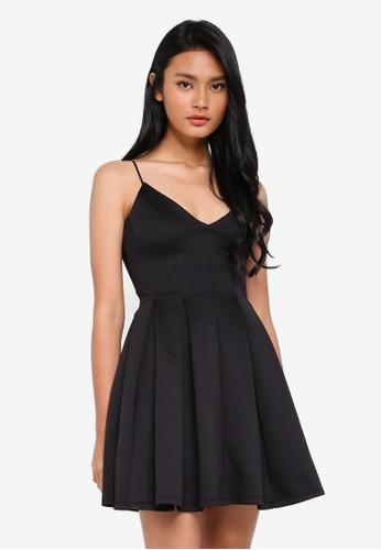 Miss Selfridge black Scuba Mini Fit And Flare Dress 357C8AACDE8B34GS_1