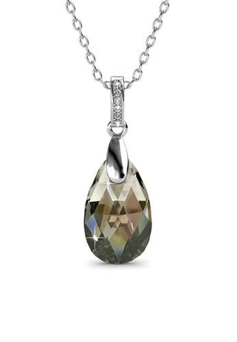 Her Jewellery grey Her Jewellery Abyss Pendant (Grey) with Necklace Chain with 18K Gold Plated HE210AC0FI4FSG_1