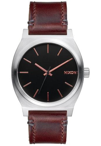 Nixon grey and brown and gold Nixon - Time Teller - Grey/ Rose Gold/ Brown NI855AC31KGYSG_1