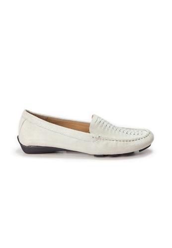 Shu Talk 白色 AMAZTEP 大熱舒服真皮輕便鞋 5BB96SH10D1563GS_1