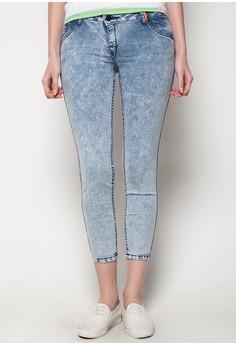 Skinzie Printed Floral Switch Up 10 Pocket Denim Jeans