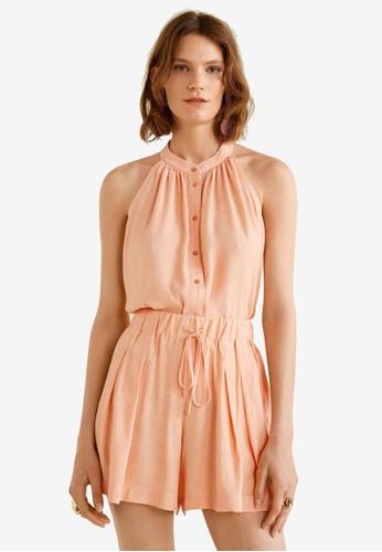 Mango pink Jacquard Shorts 73A75AAD9CC09DGS_1
