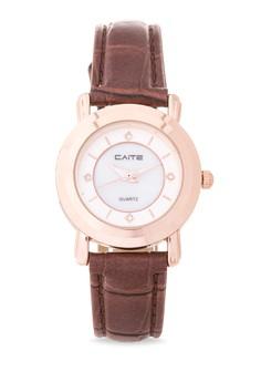 Leather Analog Watch M-836