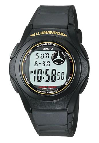 CASIO black Casio Original Digital Unisex Watch Jam Tangan Strap Karet Hitam F200W F-200W-9ADF 346AFAC926030CGS_1