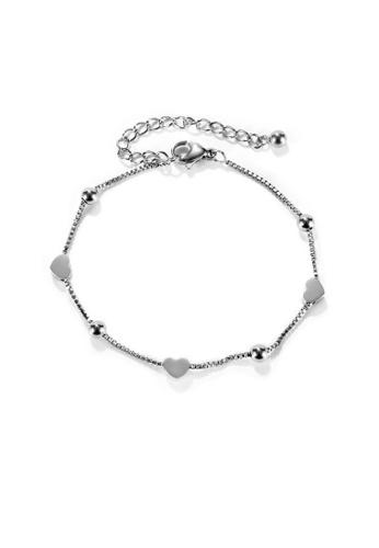 CELOVIS silver CELOVIS - Lovett Dainty Heart Pendant Bracelet in Silver 89E45AC0CE8ECAGS_1