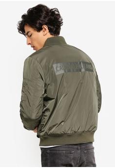 ea5665736b Calvin Klein green Reverse Utility Bomber Jacket - Calvin Klein Jeans  896A7AA55EEDAEGS 1