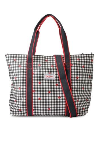Cath Kidston grey Ladybug Gingham Core Tote Nappy Bag 93319KCAB93403GS_1