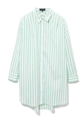 tout à coup green Stripe shirt dress 048E8AAB4700DBGS_1