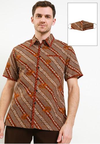 Adikusuma brown Hem Batik Gajah Uling 3 6F335AAEDD9C98GS_1