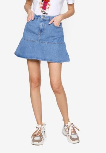 Noisy May blue Dina Denim Skirt ACC7DAA3ADD1BAGS_1