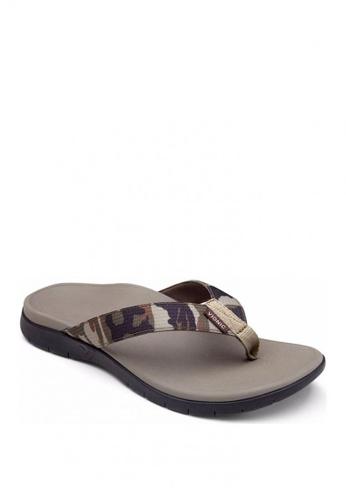 Vionic grey Sandals Toe Post Men's Tide 22064SHB73776EGS_1