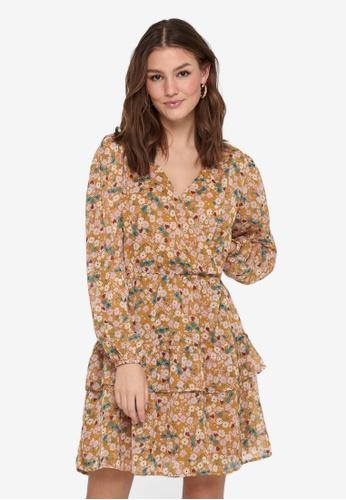 JACQUELINE DE YONG yellow Penelope Long Sleeve Dress 3FA3BAA62FAFC1GS_1