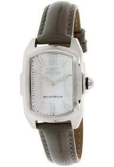 Lupah Lady 29mm Case Black Leather Strap White Dial Quartz Watch 20456