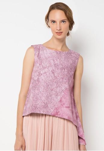 sophistix pink Seren Assymetrical Blouse SO829AA11XUYID_1