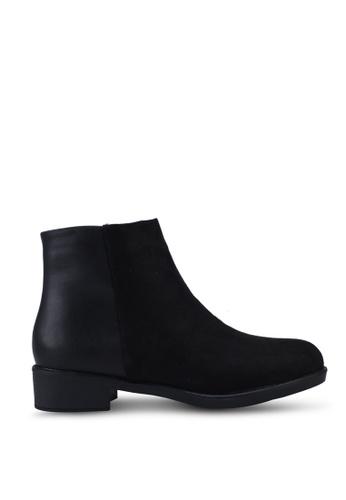 Noveni black Plain Ankle Boots 25483SH36977B2GS_1