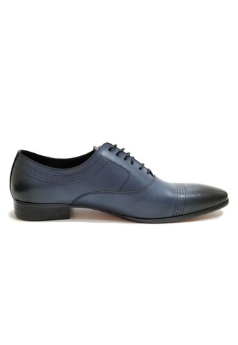 Kings Collection blue Lucca Leather Shoes 4EDE1SH4879647GS_1