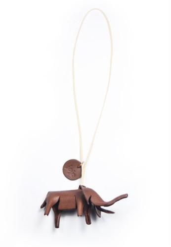 jojo brown Mini Elephant Bag Charm Brown 28F1FACF9EF866GS_1