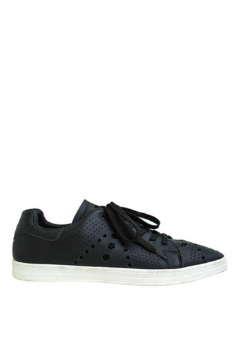 BENCH black Lace Up Sneakers   BE550SH0KFQHPH_1