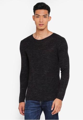 Sisley 灰色 混色針織衫 9C85CAA29F1083GS_1