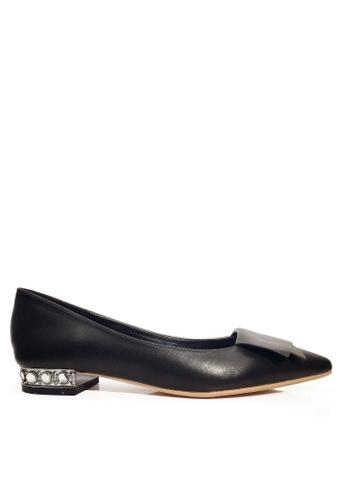 Twenty Eight Shoes 黑色 人造鑽石矮跟鞋 VL24962 67CC1SH36DA2D9GS_1