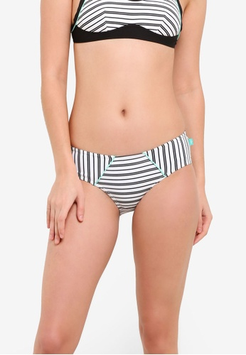 Piha white Shadow Stripes Hipster Bikini Bottom PI734US0ROSYMY_1