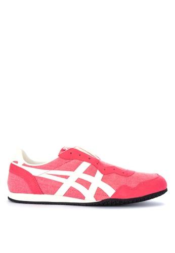 Onitsuka Tiger pink Derrano Slip-On-Sneakers 1B1F8SHBAC75ECGS_1