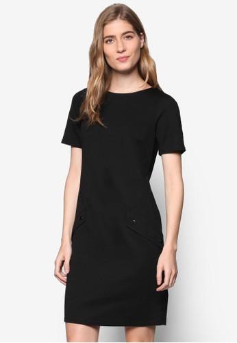 esprit outlet 台灣Petite 簡約雙口袋A字連身裙, 服飾, 洋裝