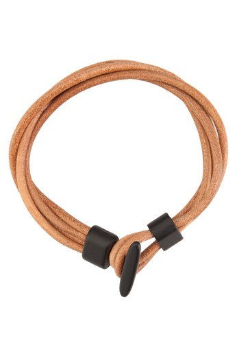 層次仿esprit outlet 台中皮纏繞手環, 飾品配件, 手環