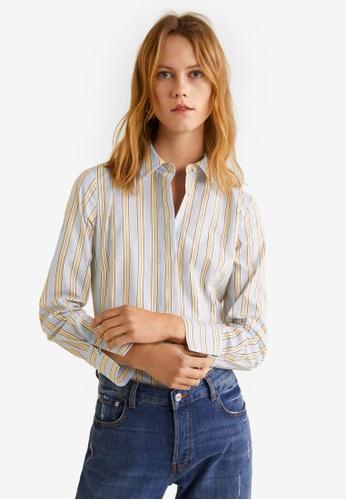 0208a2f8 Buy Mango Striped Shirt   ZALORA HK