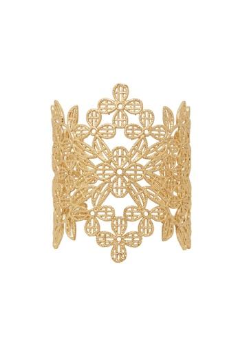 Jaysa Collection gold Princess Golden Filigree Bracelet Cuff JA875AC0GQ9SSG_1