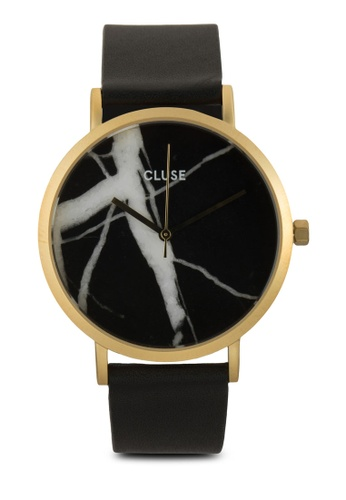 CLUSE black and gold La Roche Gold Black Marble/Black Watch 38mm CL977AC60IATMY_1