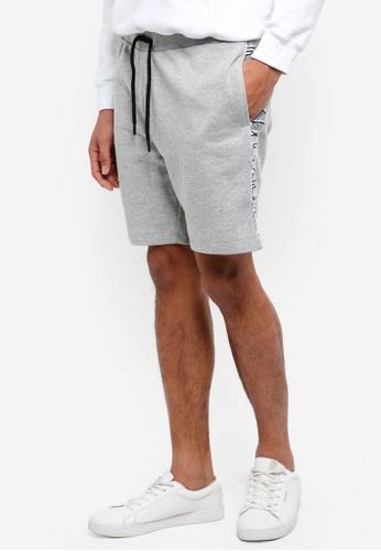 Topman grey Grey Ny Taping Jersey Shorts 77254AA6C6F414GS_1
