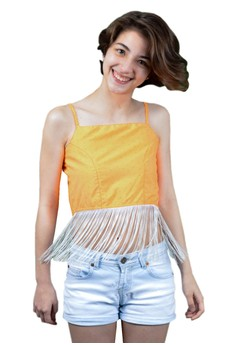FEF Clothing's Gabrielle Backless Fringe Top