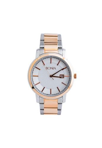 BONIA gold and silver Bonia B10112-1612 - Jam Tangan Pria - Silver Rosegold BO710AC20OFJID_1