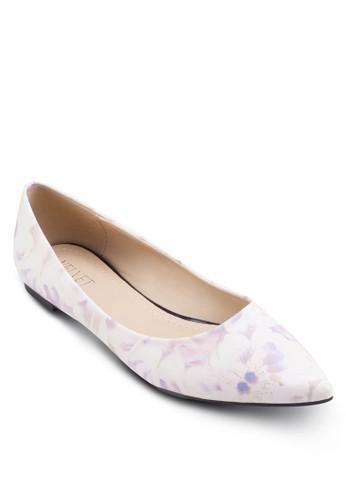 Yolanda 花卉圖esprit hong kong案平底鞋, 韓系時尚, 梳妝