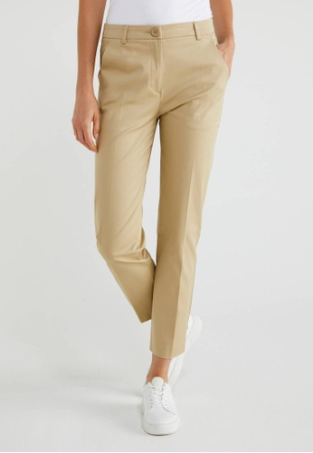 United Colors of Benetton brown Slim Fit Trousers E8B19AA127CCE2GS_1