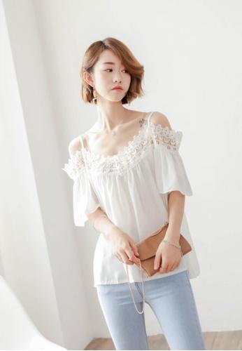 Shopsfashion white Macerio Blouse SH656AA56GDFSG_1