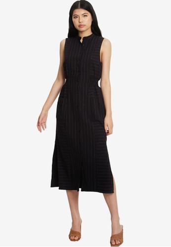 Willa navy Lorde Midi Dress 1110BAAACF110EGS_1