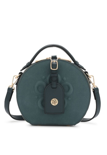 Wild Channel green Faux Leather Top Handle Bag FACEFAC734AA59GS_1