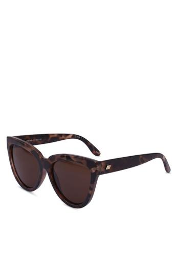 Le Specs brown Liar Lair 1602155 Sunglasses B69CFGL8FA96D1GS_1