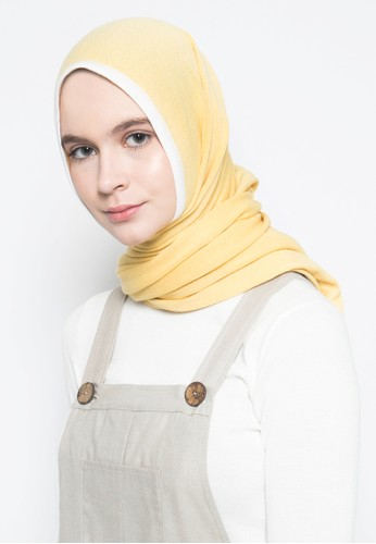 ULTRAVIOLET yellow Knit Hijab Pashmina 311 Yellow 6713BAA480FC79GS_1
