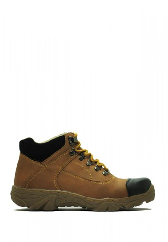 Cut Engineer brown Cut Engineer Safety Boots Steal Composite Leather Soft Brown 48469SHEE1C74AGS_1