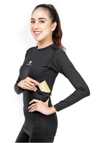 Tiento black Tiento Baselayer Black Evolution with Hidden Pocket Women 21A47AA230C5BCGS_1